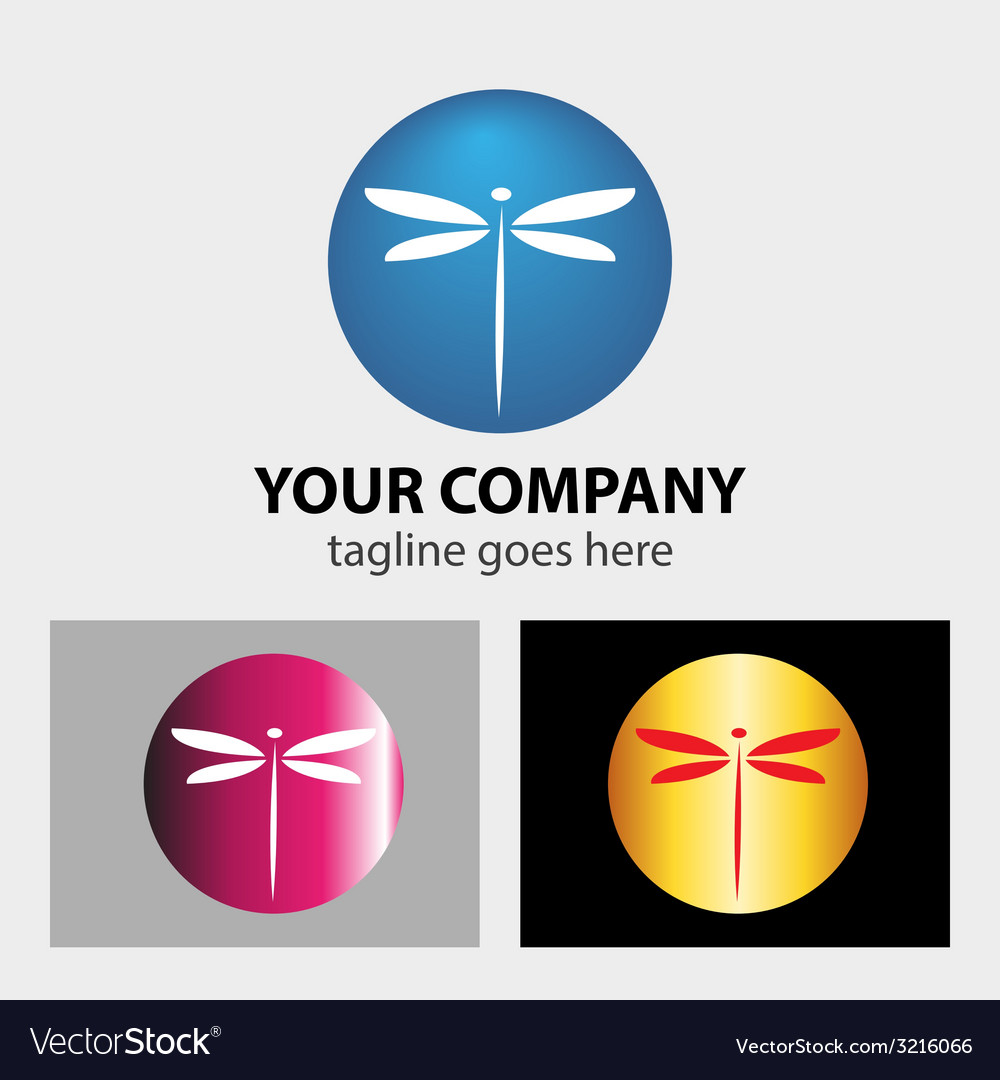 Dragonfly logo vector image