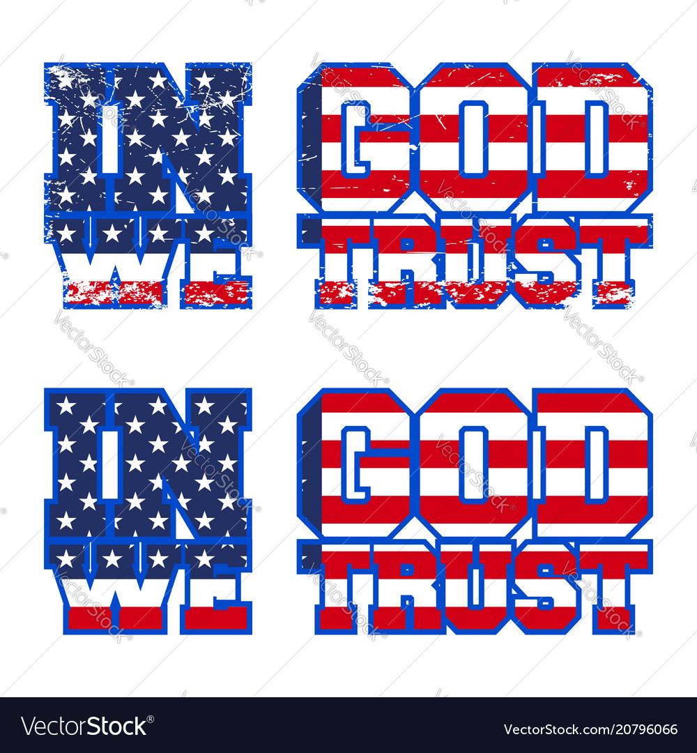 In god we trust print design