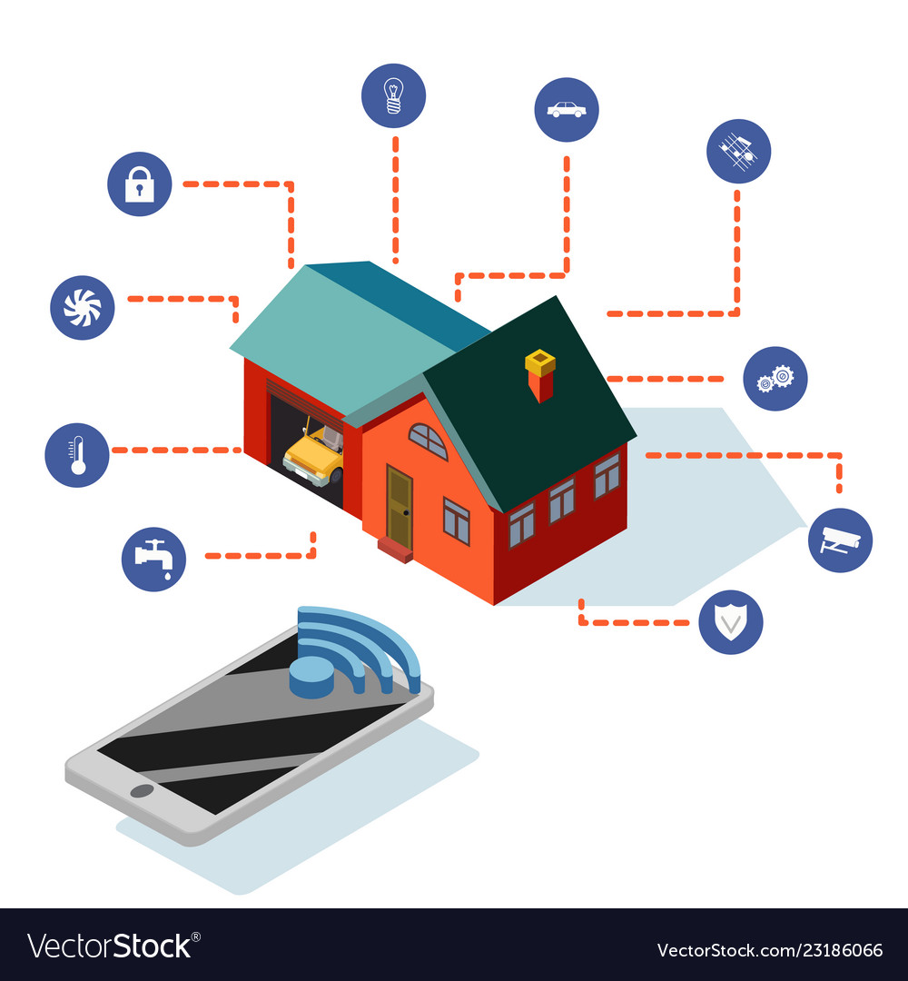 Isometric smart house control system technology