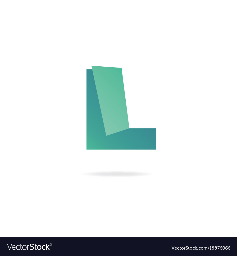 letter l logo design template elements paper vector image