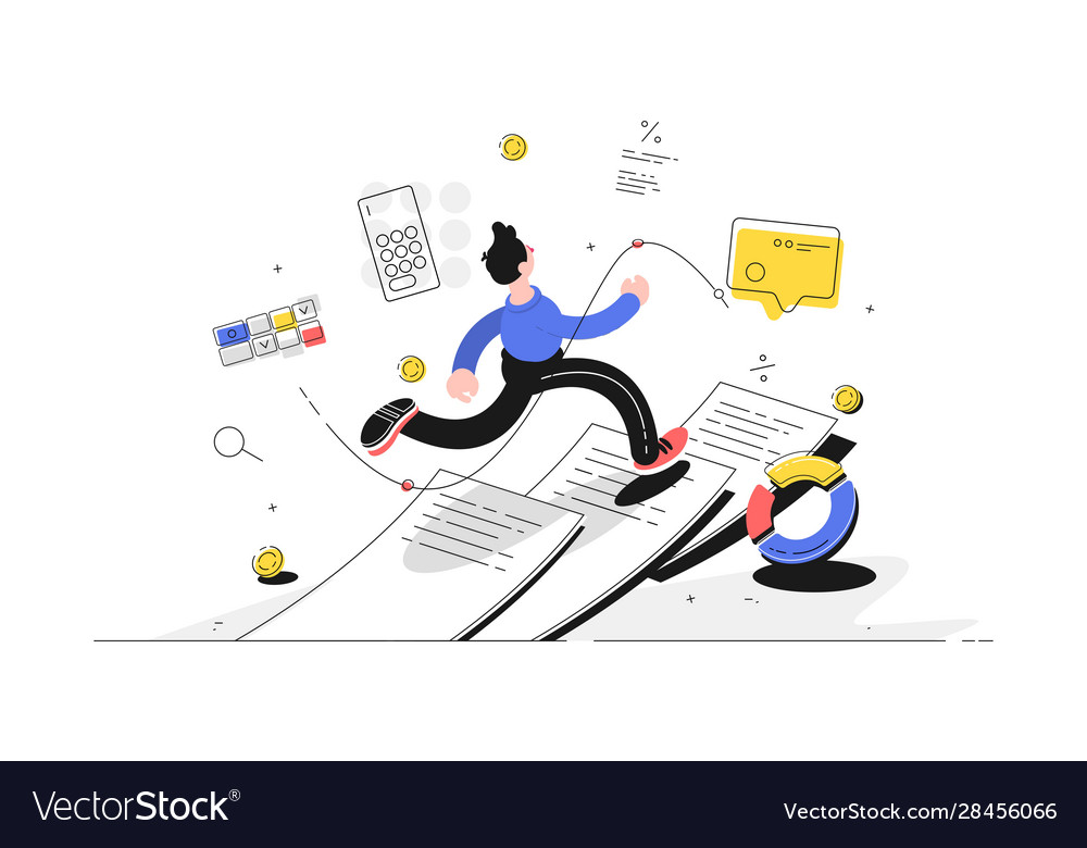 Man running on paper