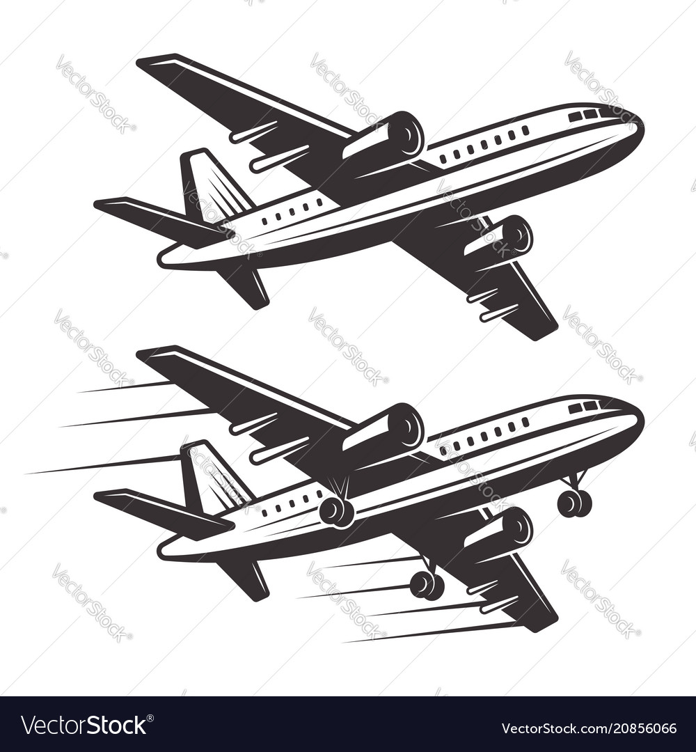 Passenger airplane two style design elements