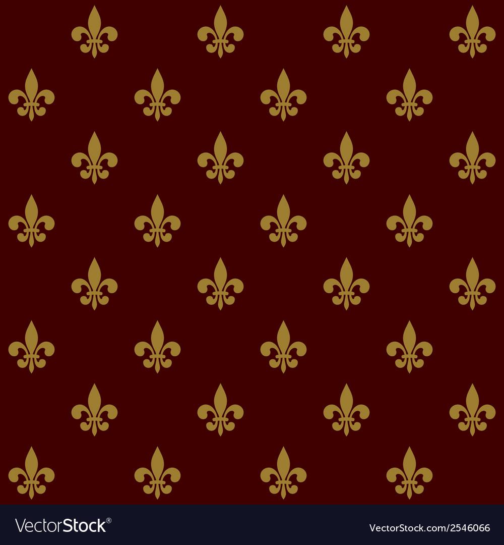 Royal Lily Fleur de Lis Seamless Pattern