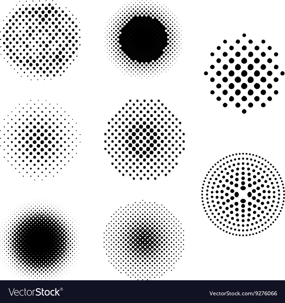 Set of Abstract Halftone