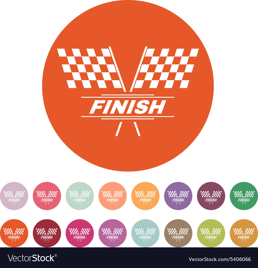 The race flag icon Finish symbol Flat