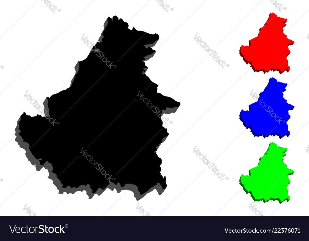 3d Map Of Borneo Royalty Free Vector Image Vectorstock