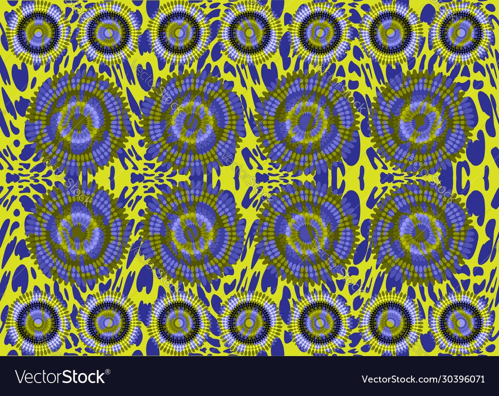 African print fabric ethnic grunge floral motifs