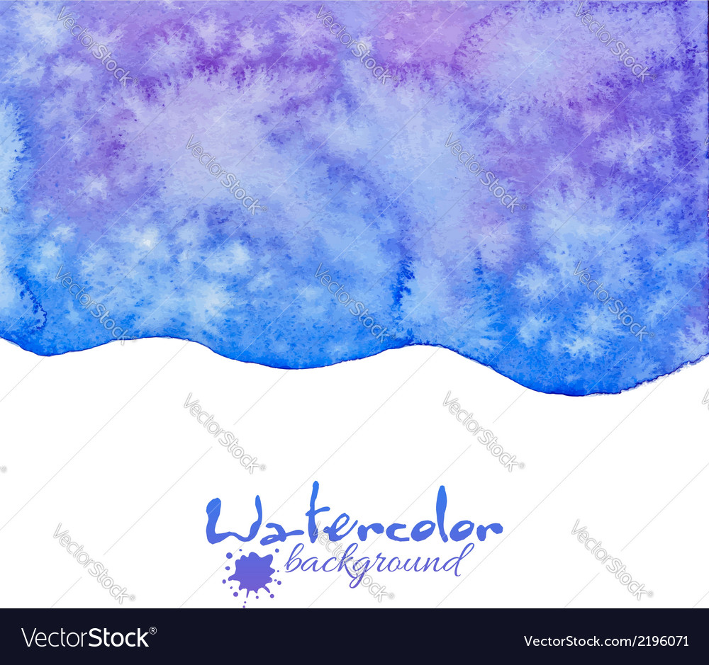 Blue decorative watercolor background