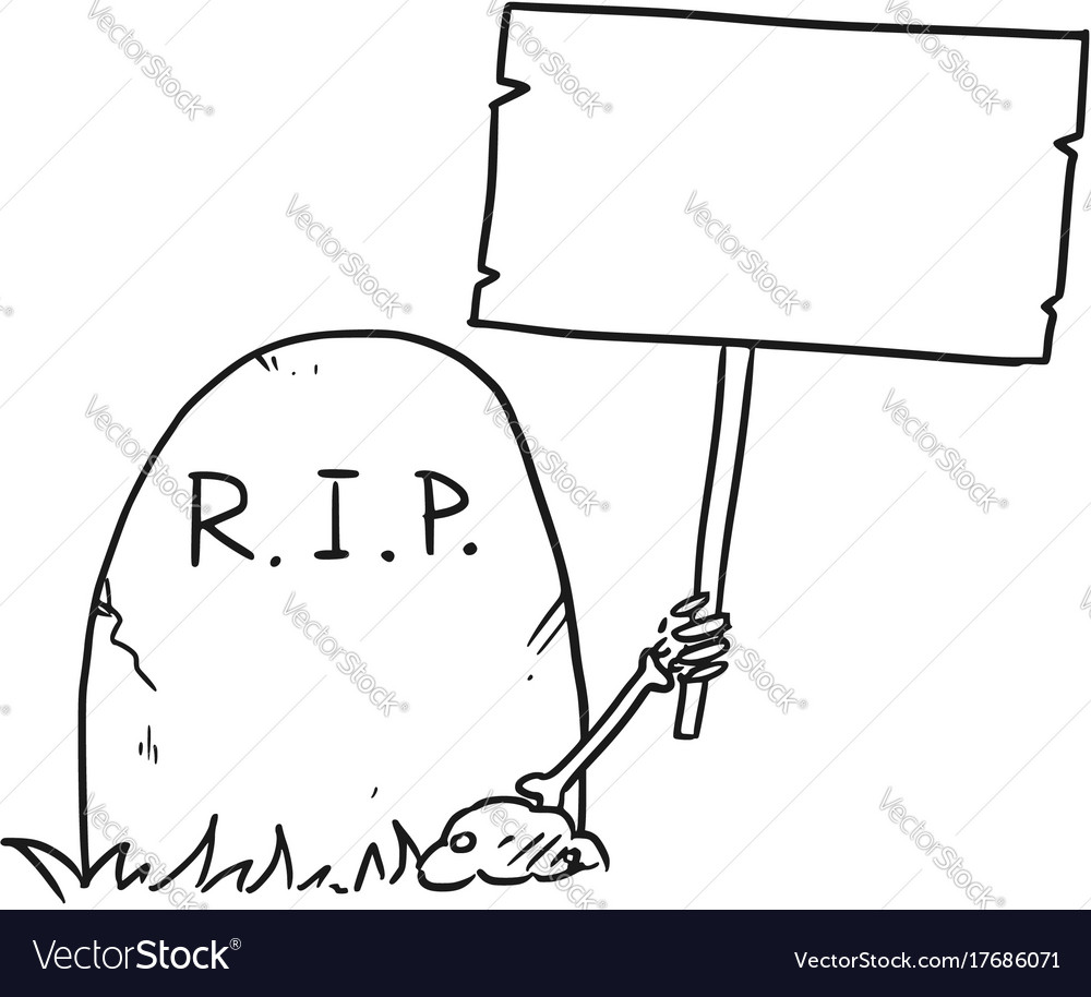 Cartoon Of Skeleton Arm Is Sticking Out Of The Vector Image