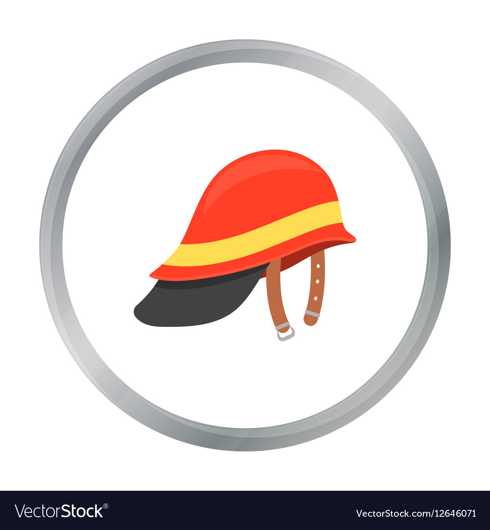Firefighter Helmet icon cartoon Single silhouette