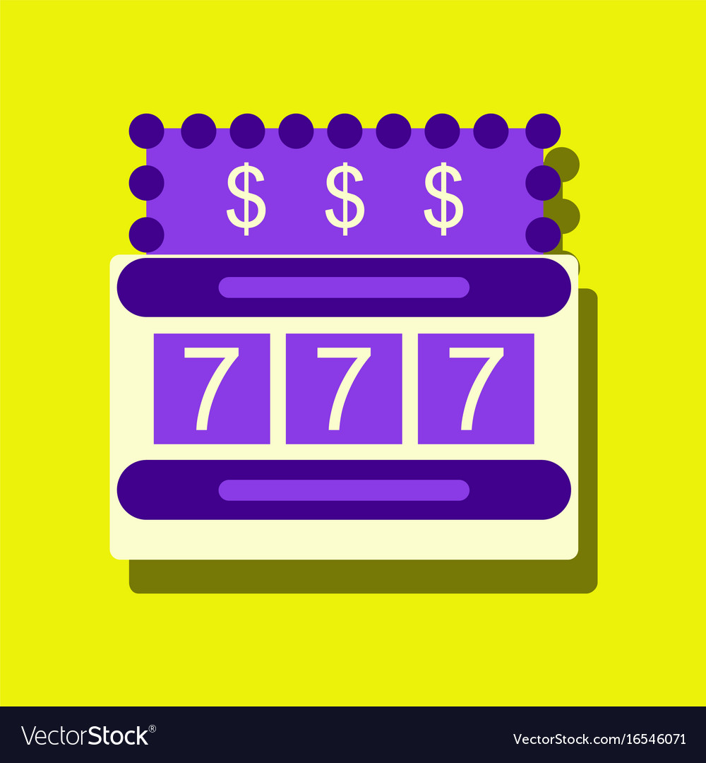 Flat icon design collection jackpot machine vector image