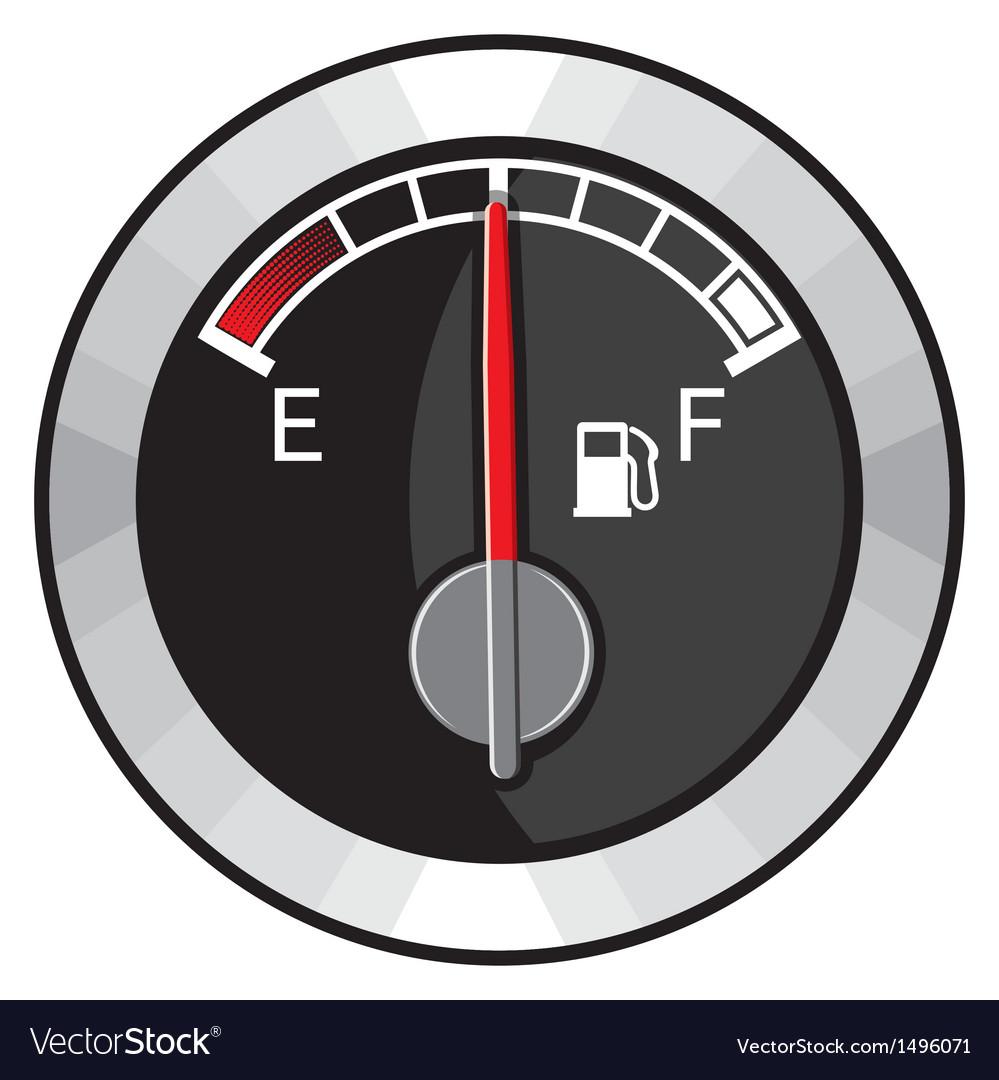 Half gas tank indicator