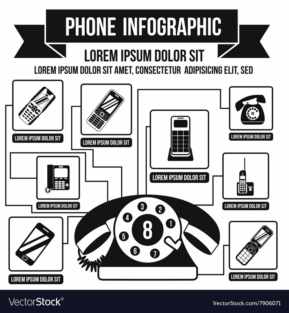 Phone infographics simple style