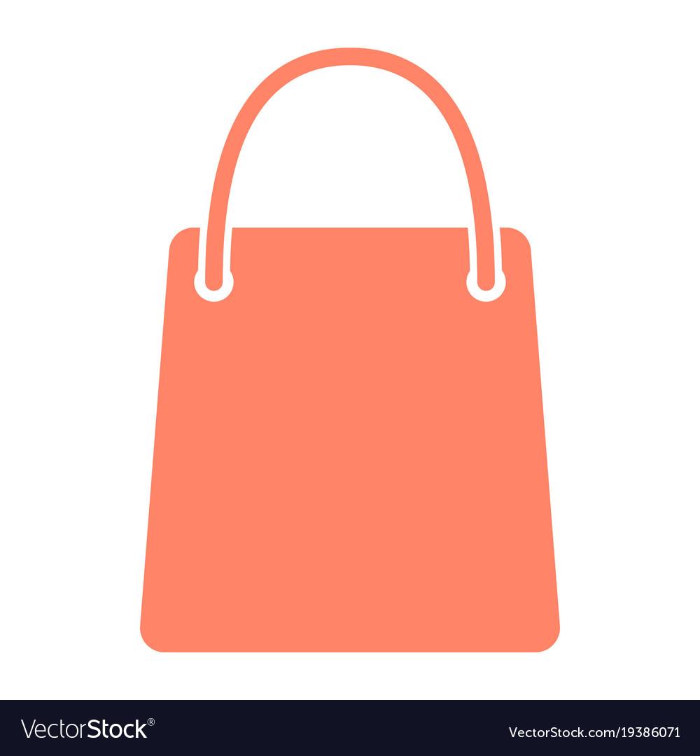 shopping bag silhouette icon minimal pictogram vector image