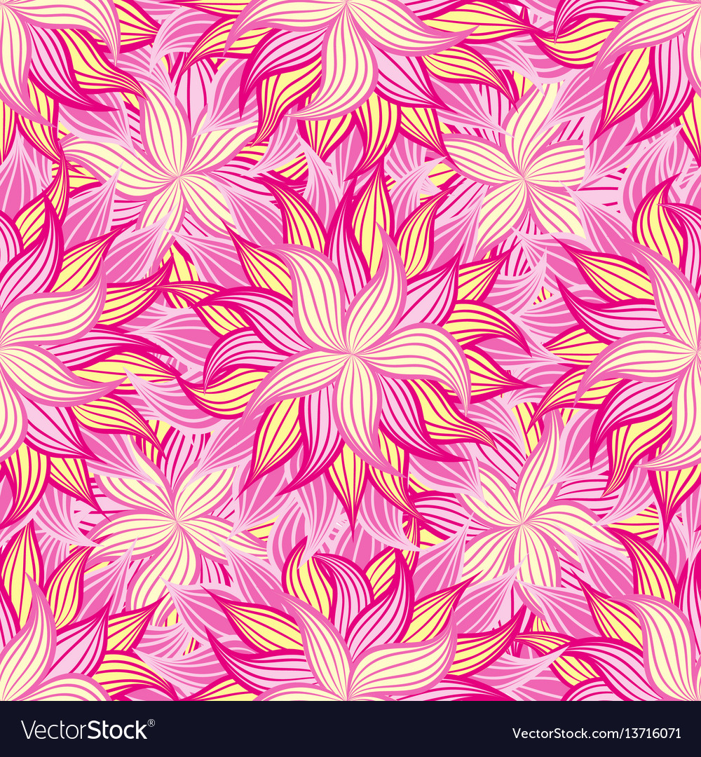 Spring Or Summer Flowers Pattern Floral Royalty Free Vector