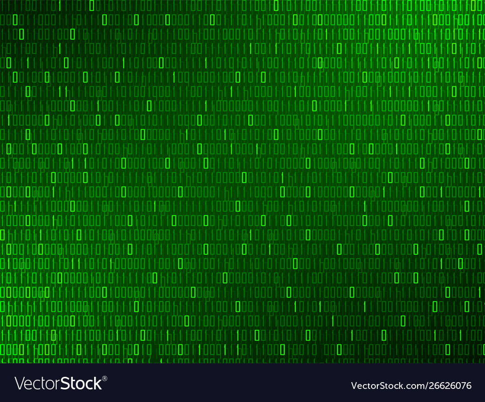 Abstract technology background with binary code