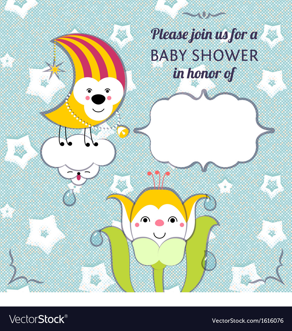 Baby shower invitation card editable template