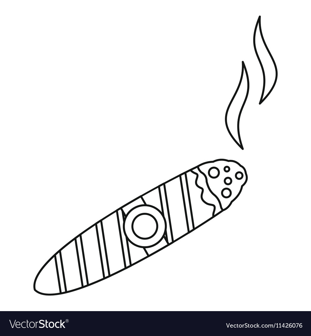 Cigar burned icon outline style