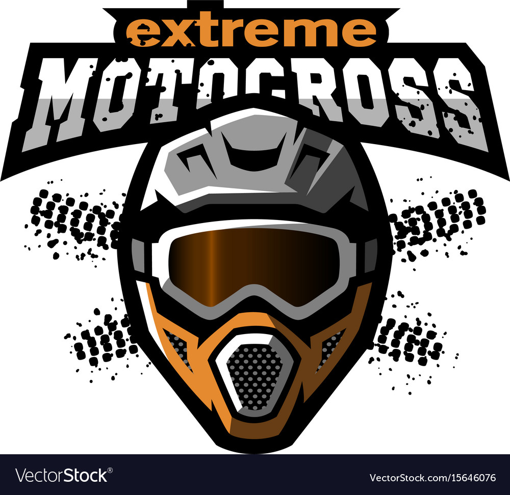 extreme motocross logo royalty free vector image rh vectorstock com motocross logo design motocross logo design