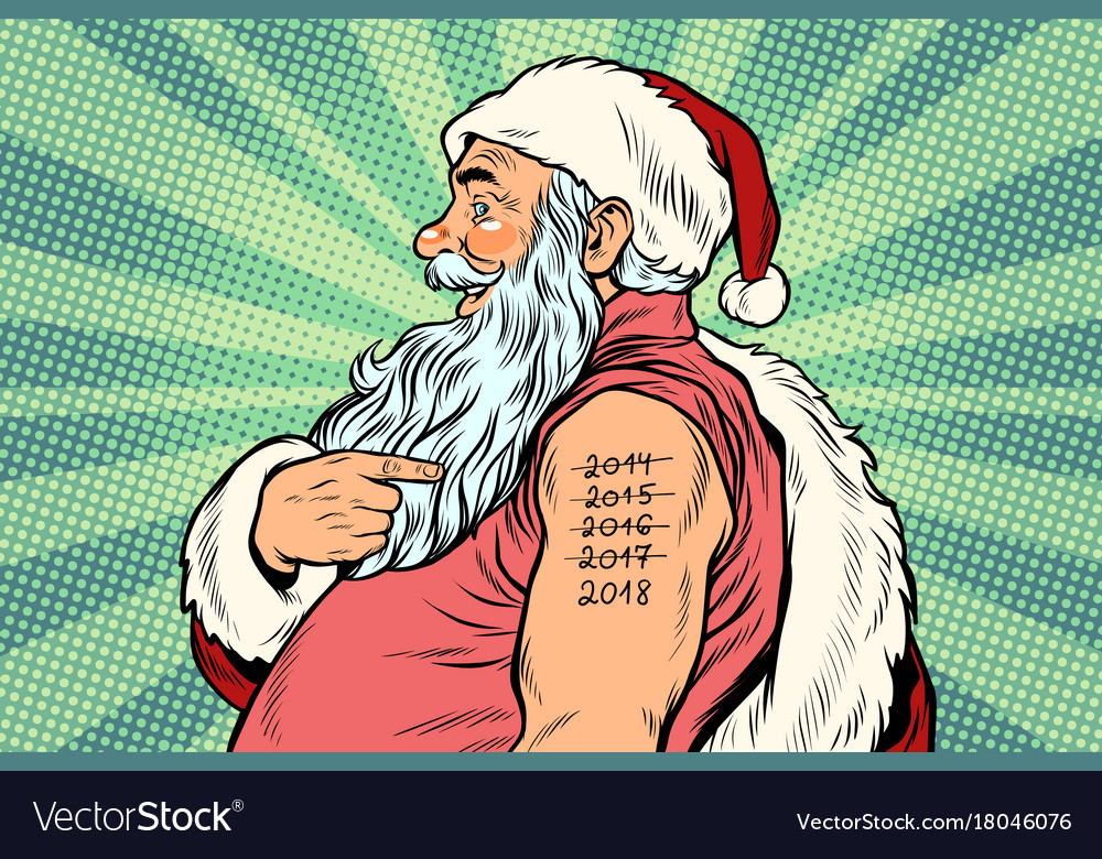 Santa claus with tattoos 2018