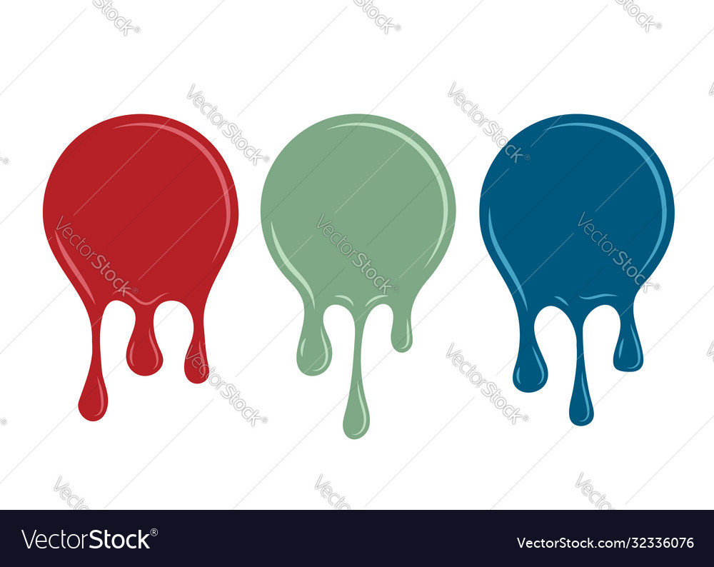 Spilled paint design element