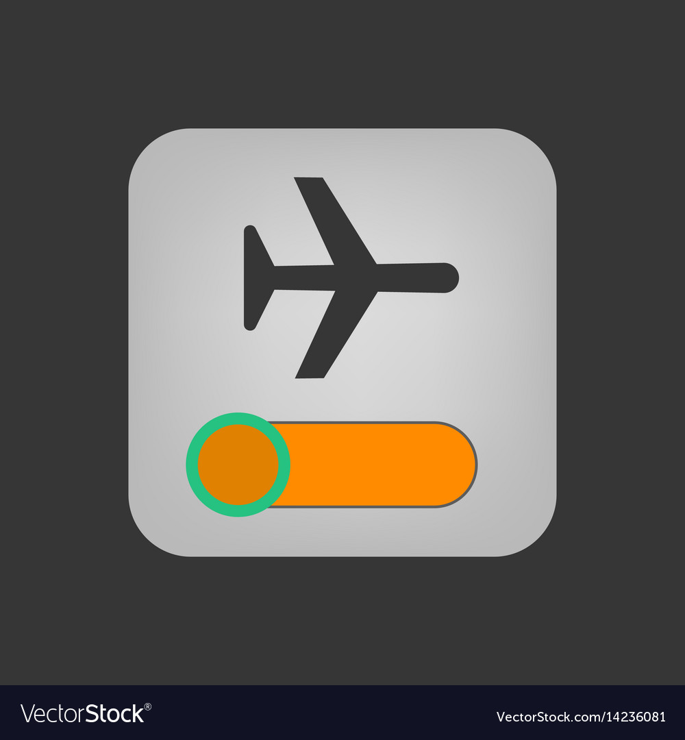 Airplane mode icon vector image
