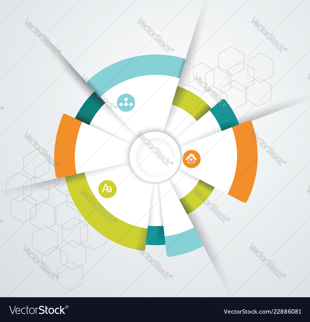 Business pie chart for documents and reports for