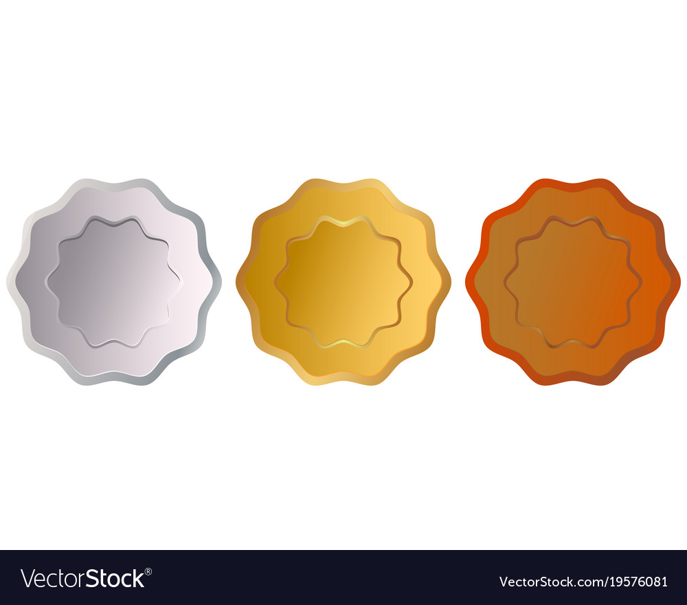 Collection of medals vector image