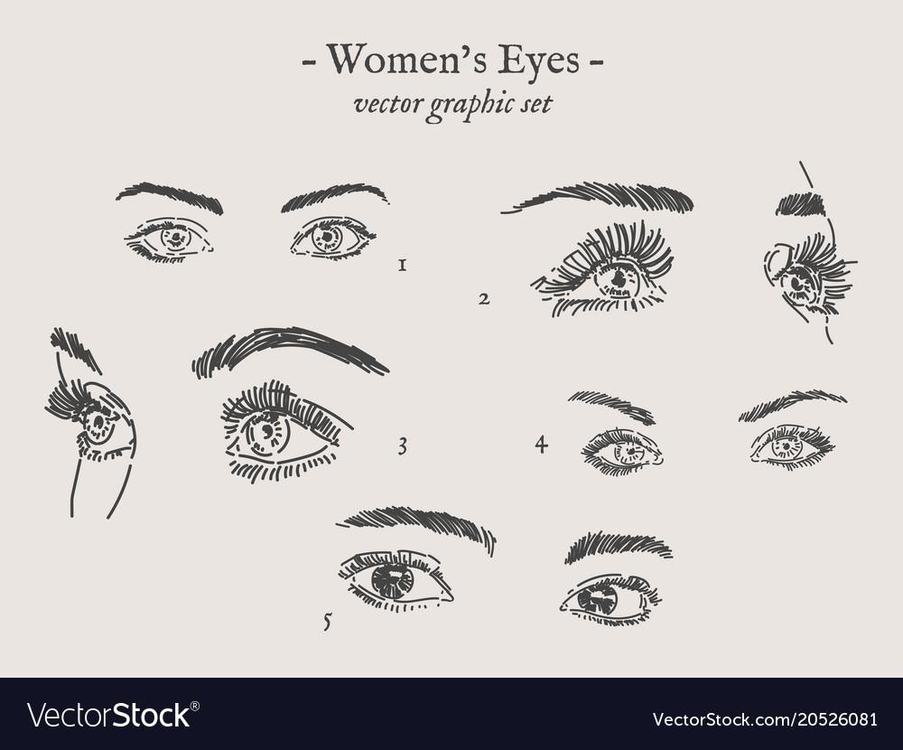 Eyes drawings set