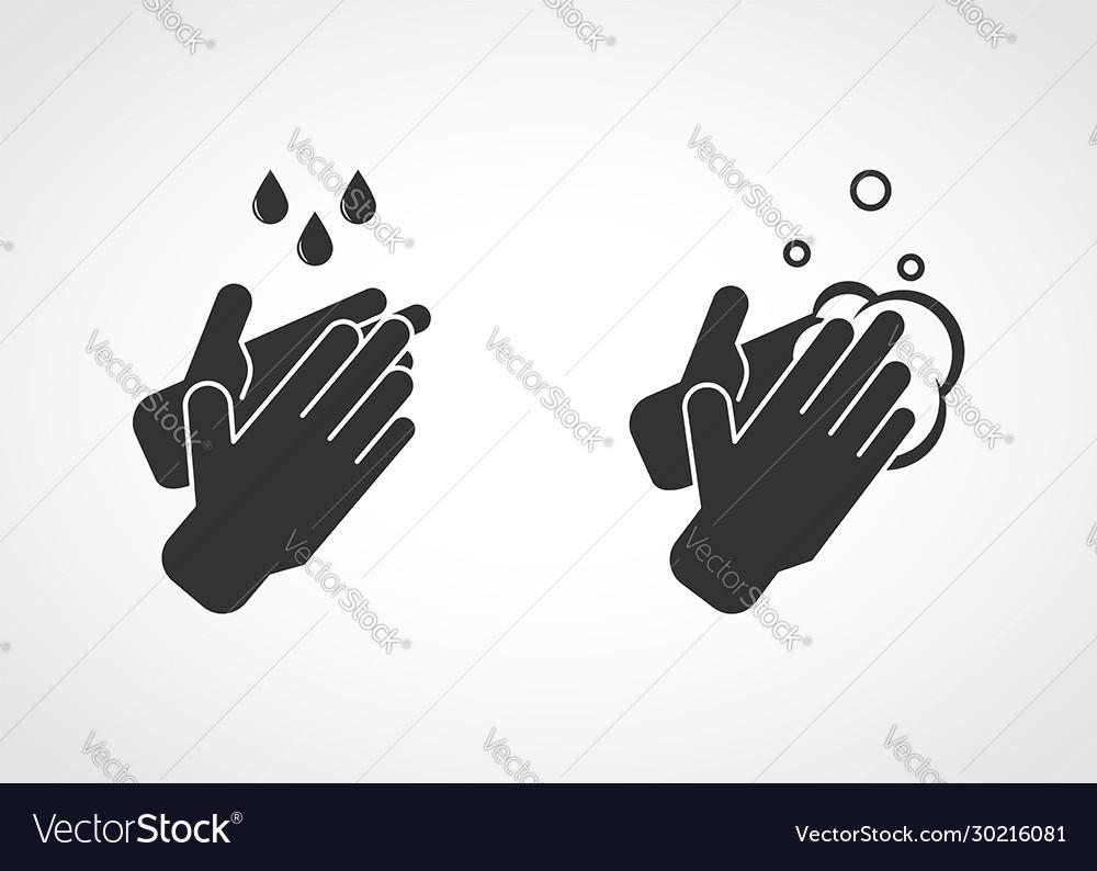 Hand washing with soap hand sanitation