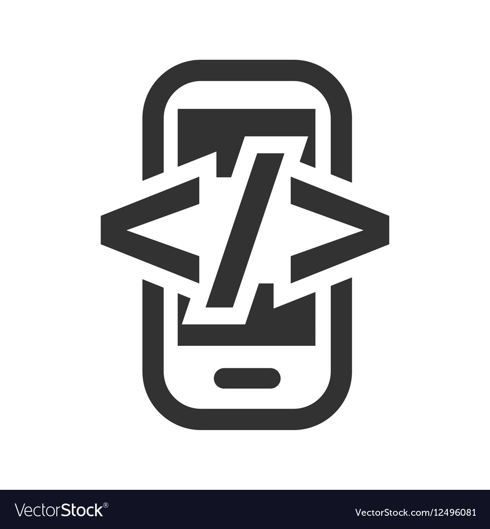 Mobile Development Html Flat Icon Royalty Free Vector Image