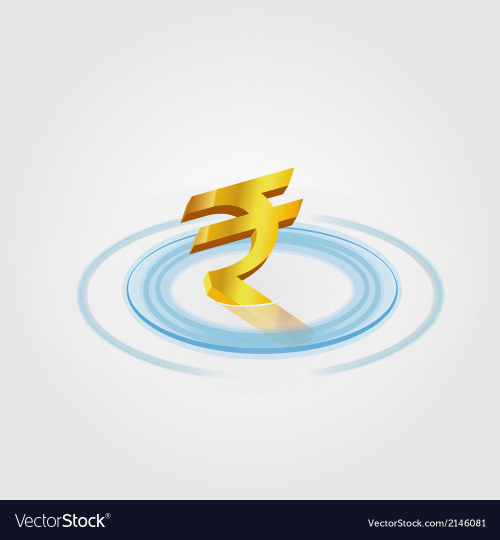 Rubee Ripple Currency vector image
