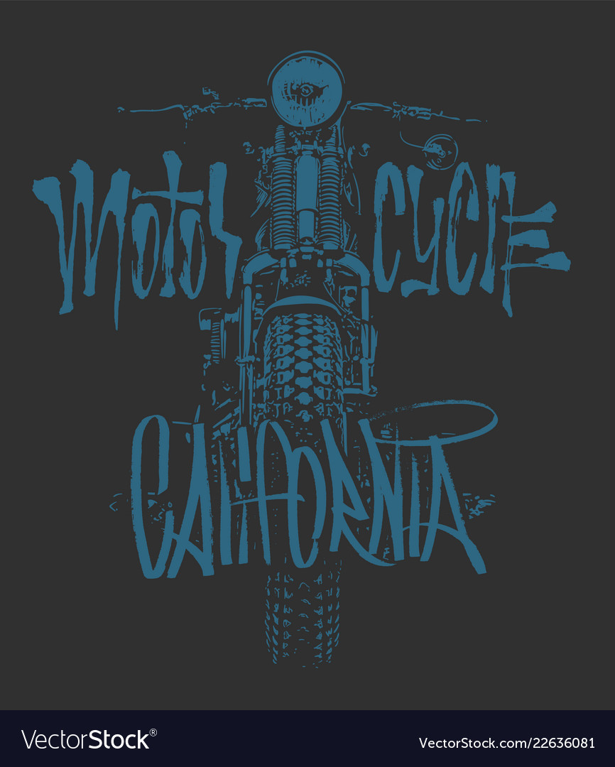 Vintage motorcycle hand drawn t-shirt