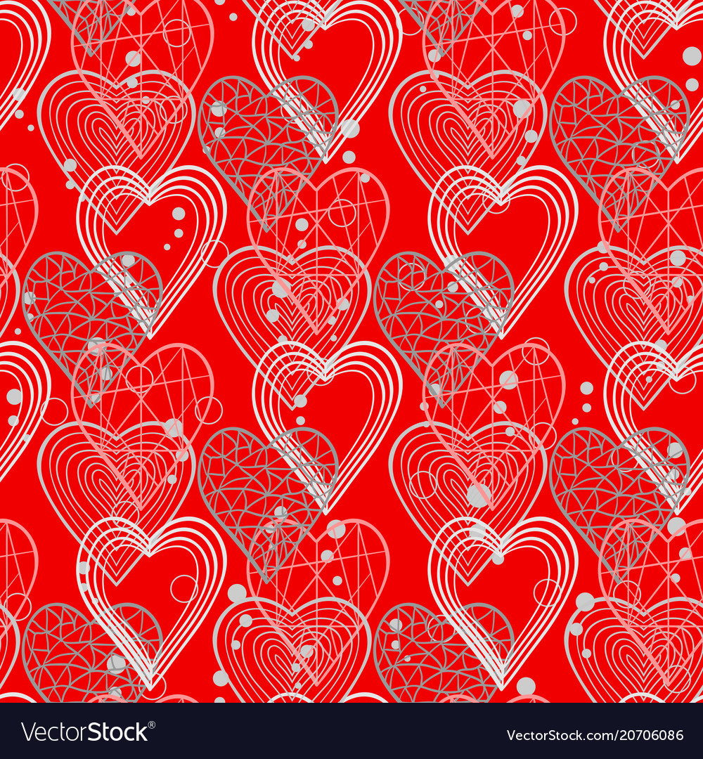 Hearts abstract pattern