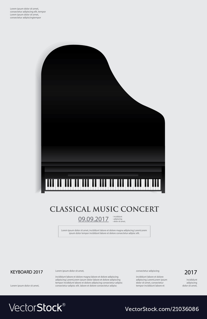 music grand piano poster background template vector image