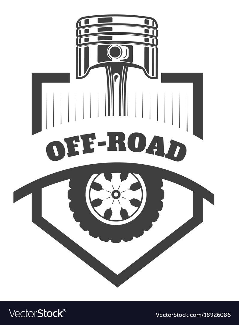 off road 4x4 extreme car club logo template vector image rh vectorstock com car club logo template car club logo maker