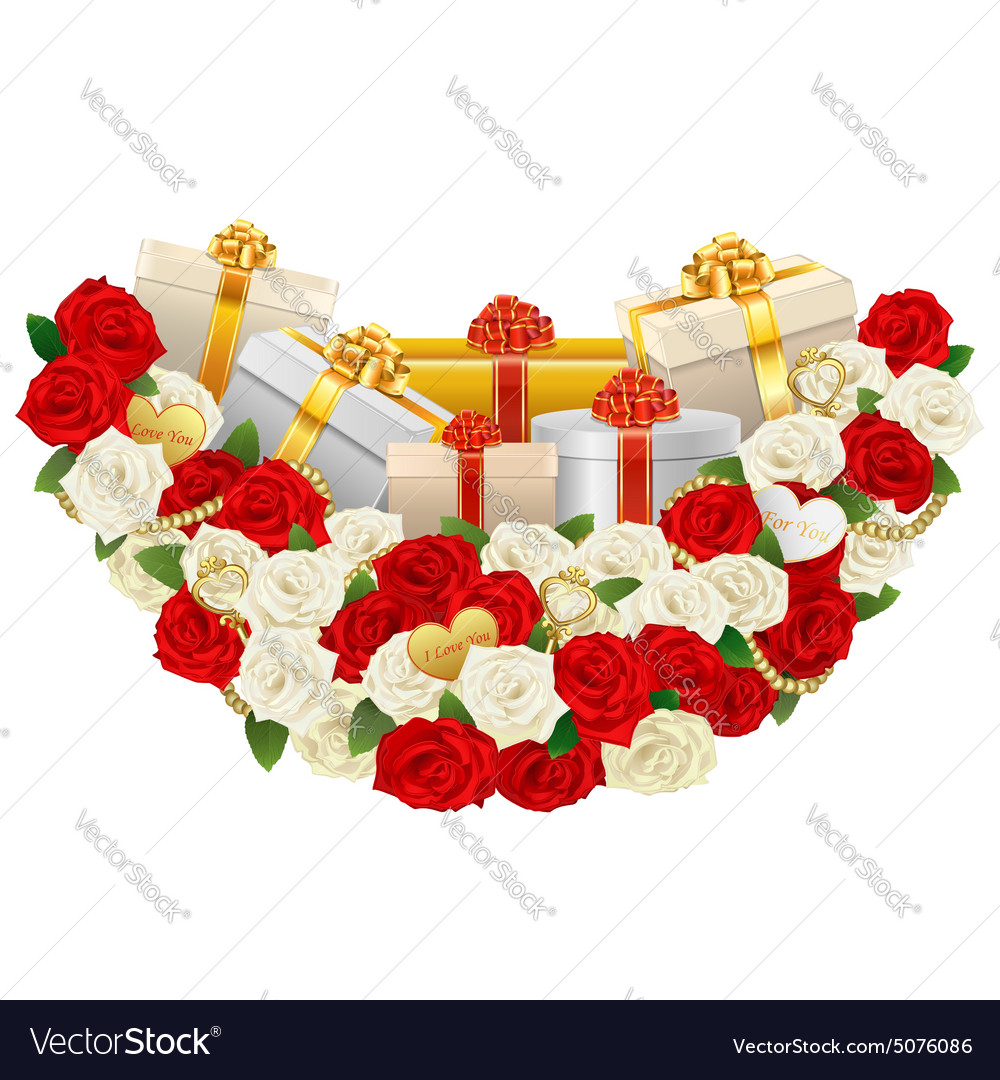 Romantic Flower Decoration with Gifts