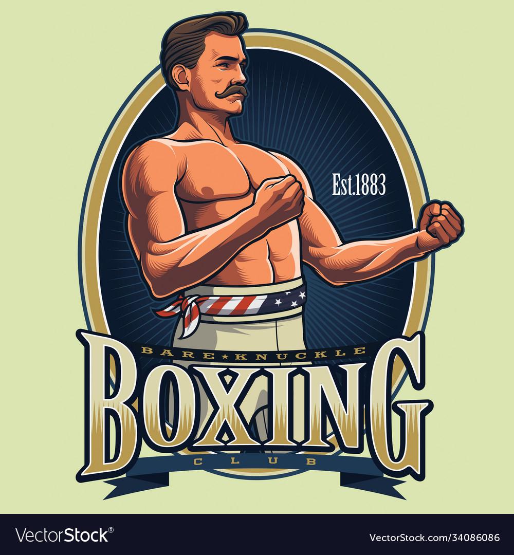 Vintage boxing logo design