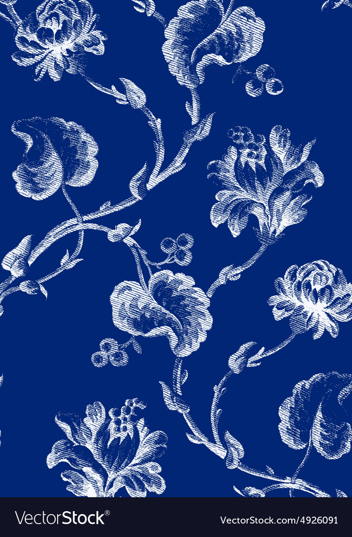 10 Abstract hand-drawn floral seamless pattern