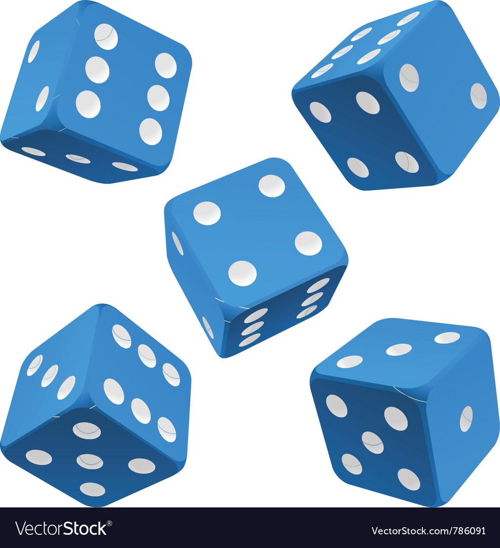 Blue dice set icon vector image