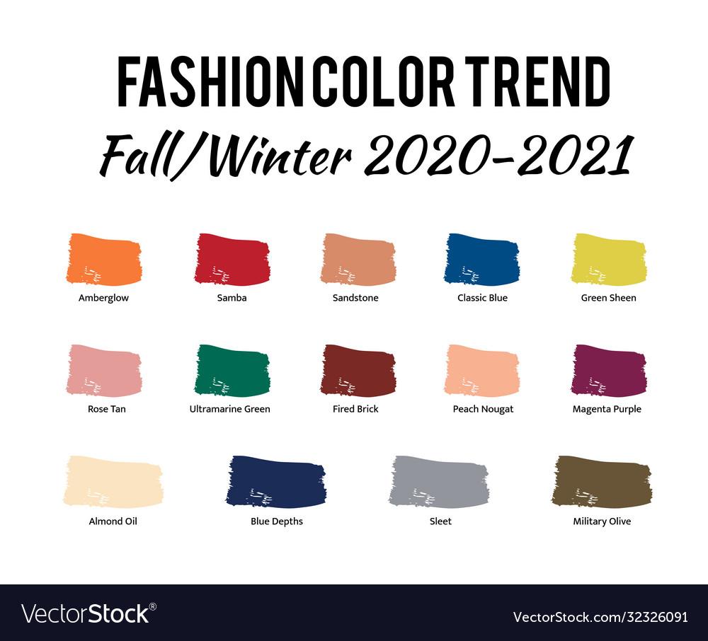 Fashion color trend autumn winter 6 - 6 Vector Image
