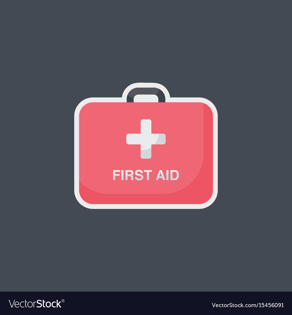 First aid flat icon vector image