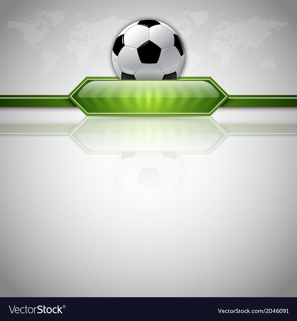 Football score green world gray vector image
