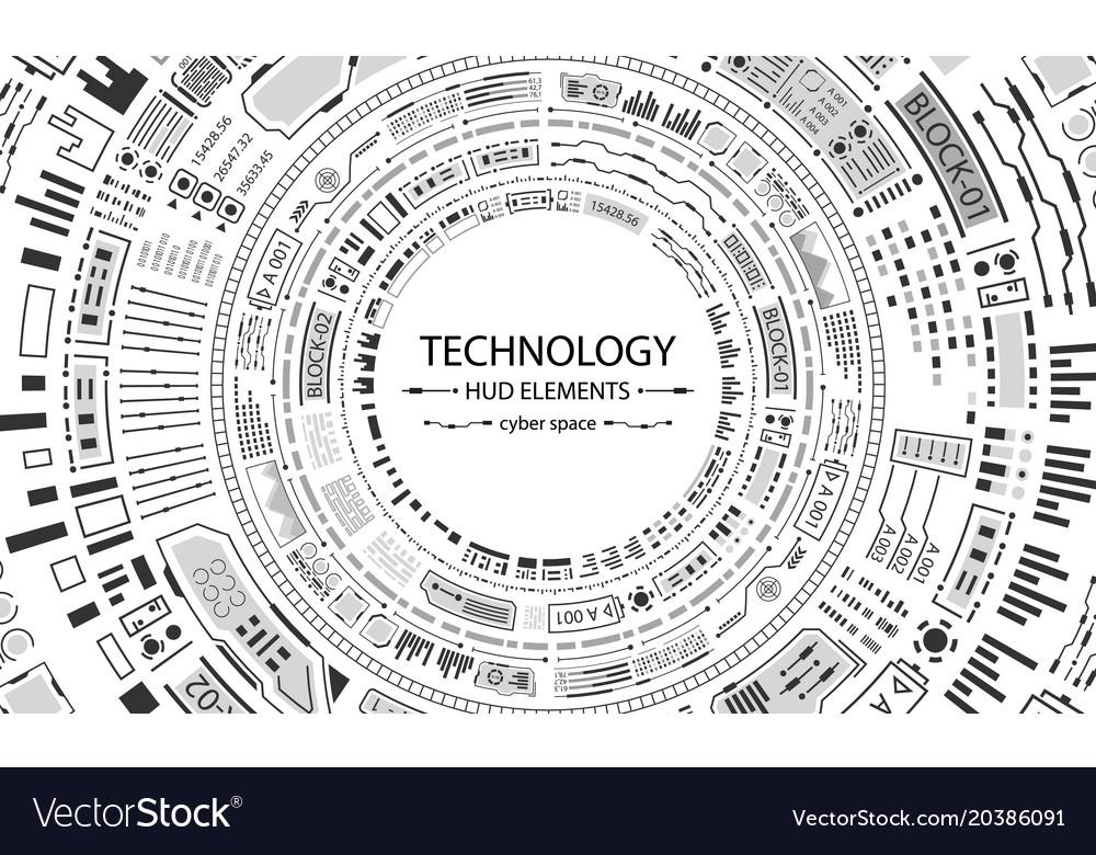 Futuristic hud circles design technology