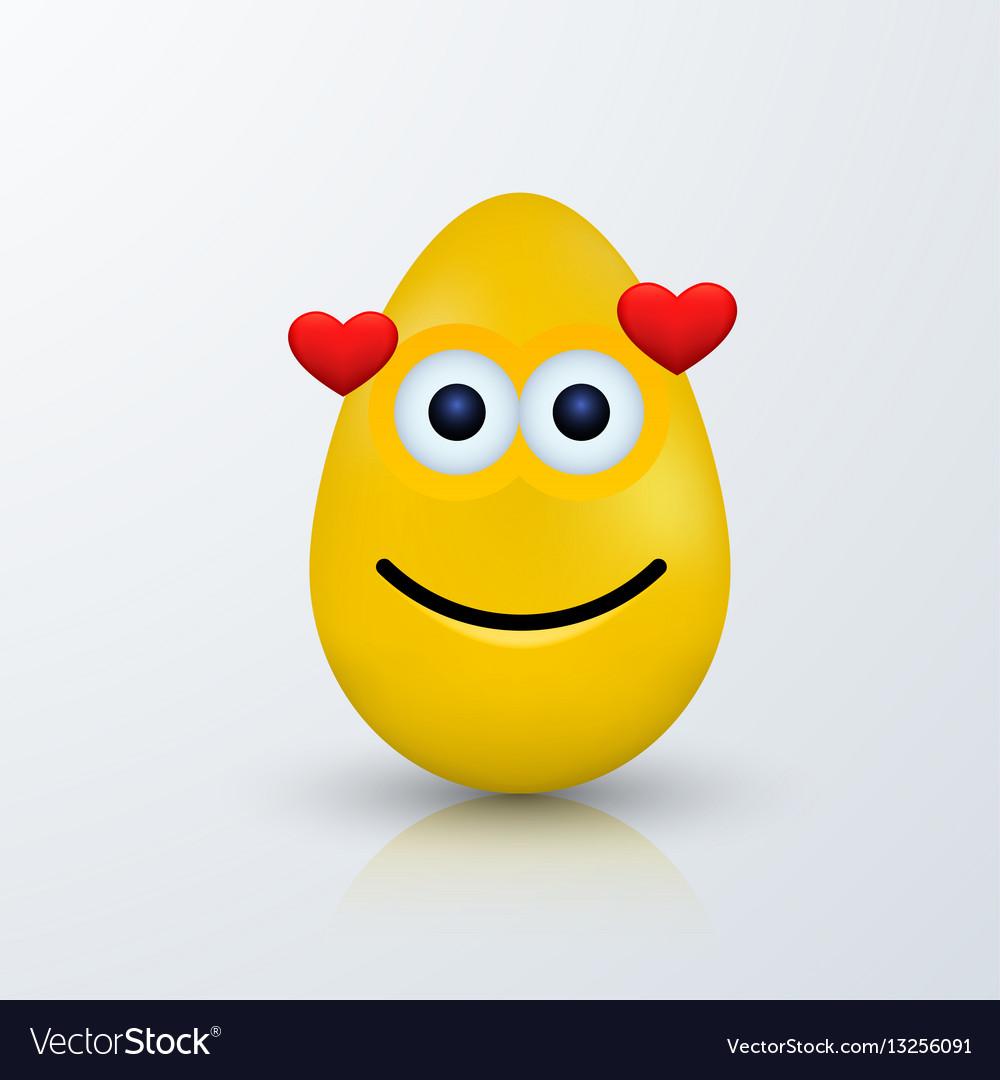 c093e85e7299 Modern easter emoji egg with shadow Royalty Free Vector