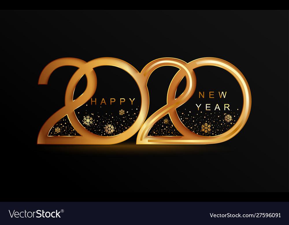 New year 2020 elegant golden banner