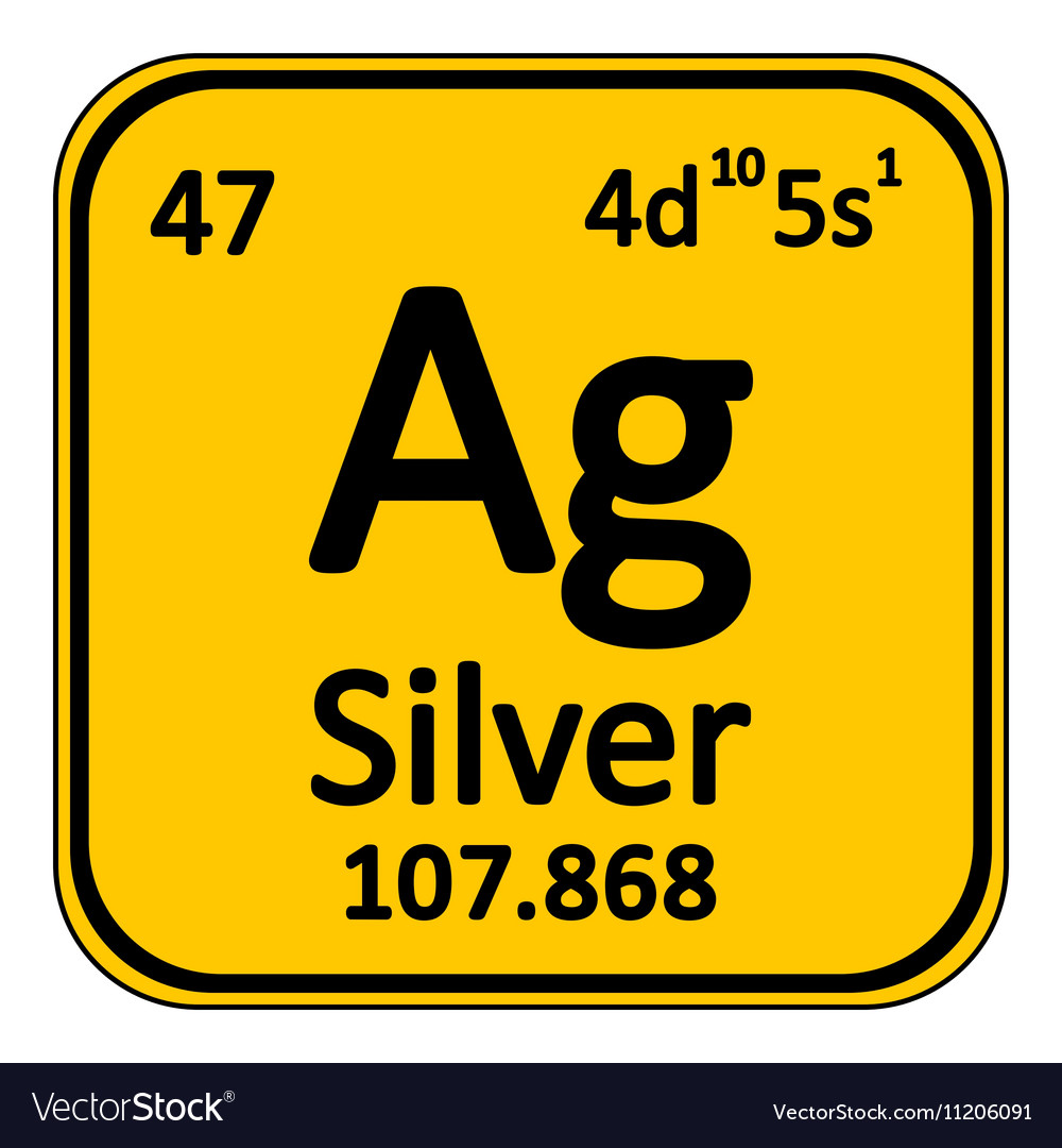 Periodic Table Element Silver Icon Royalty Free Vector Image