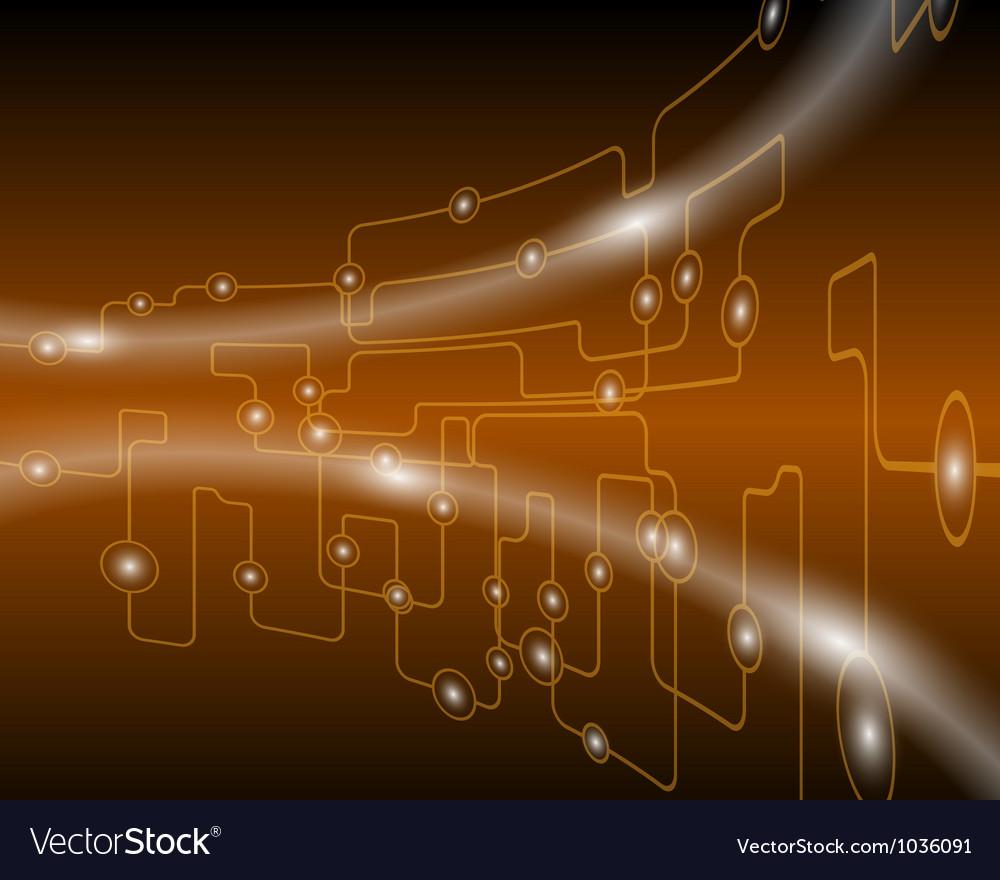 Techno vector image