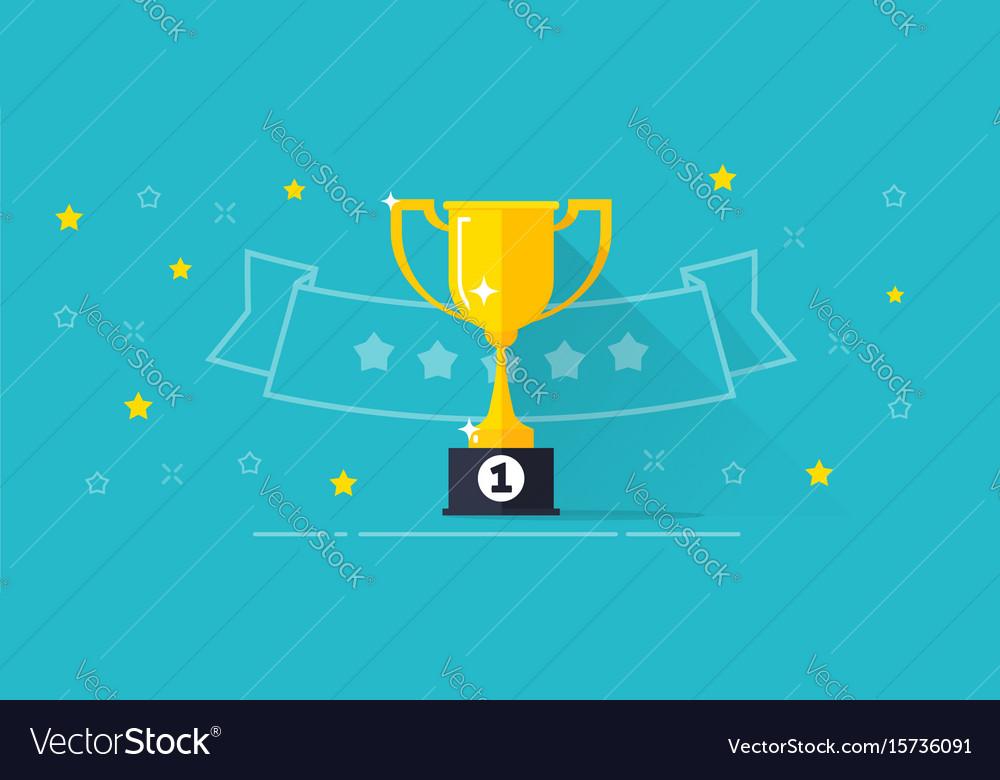 winner award banner flat royalty free vector image