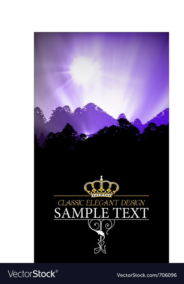 Elegant cover vector image